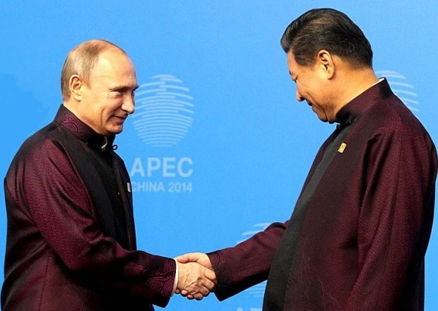 Russian President Vladimir Putin with Chinese President Xi Jingping during the APEC Summit. Beijing, 10 November 2014