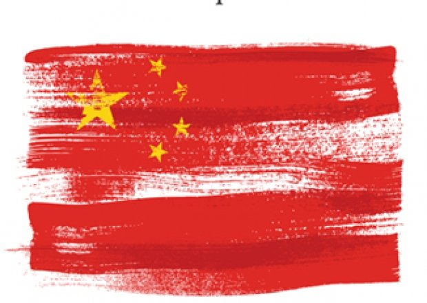 The cover of the book featuring a painting of the Chinese flag.