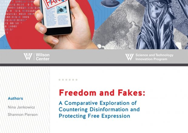 Publication cover for  Images -- STIP Freedom and Fakes: A Comparative Exploration of Countering Disinformation and Protecting Free Expression