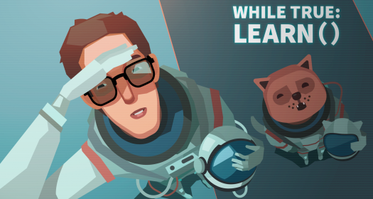 while True: learn() promotional header