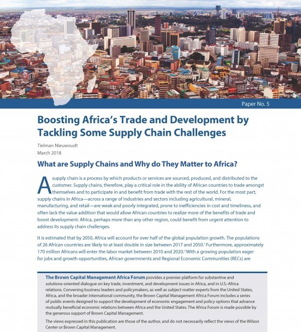 Boosting Africa's Trade and Development by Tackling Some Supply Chain Challenges