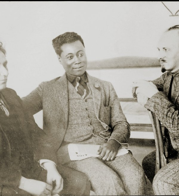 Grigory Zinoviev, Nikolai Bukharin and Claude McKay in 1923