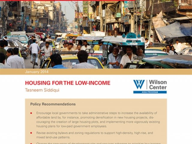 Pakistan's Urbanization: Housing for the Low-Income