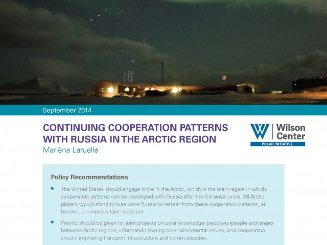 Continuing Cooperation Patterns with Russia in the Arctic Region