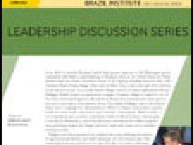 Leadership Discussion Series: A Conversation with the Governor of the State of Mato Grosso, Blairo Maggi