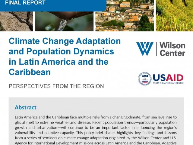 Climate Change Adaptation and Population Dynamics in Latin America and the Caribbean - Perspectives from the Region