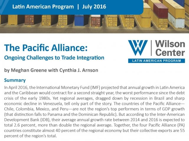 The Pacific Alliance: Ongoing Challenges to Trade Integration