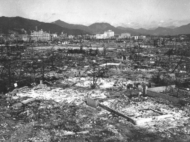 War Department Photograph of Hiroshima after Atomic Bomb