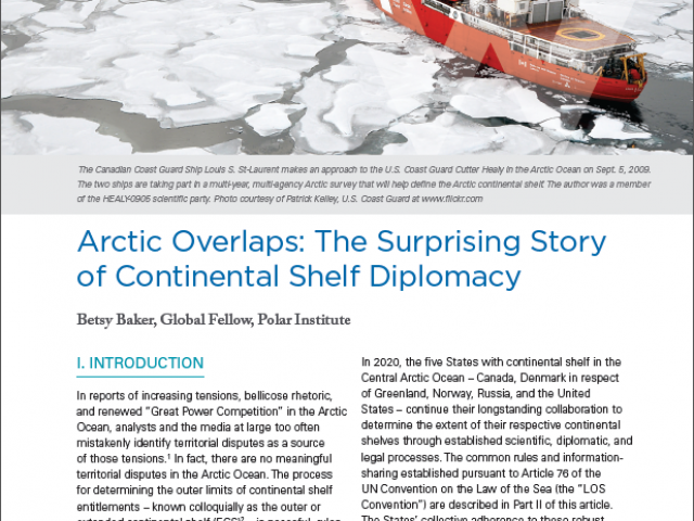 Polar Perspectives No. 3 | Arctic Overlaps: The Surprising Story of Continental Shelf Diplomacy