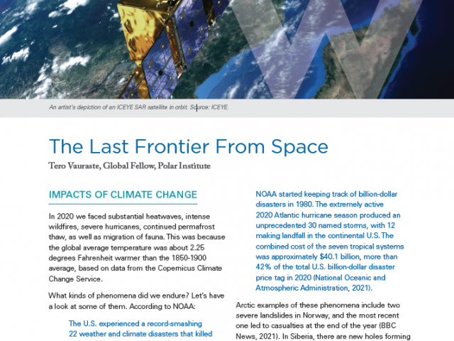 Polar Perspectives No. 6   The Last Frontier From Space
