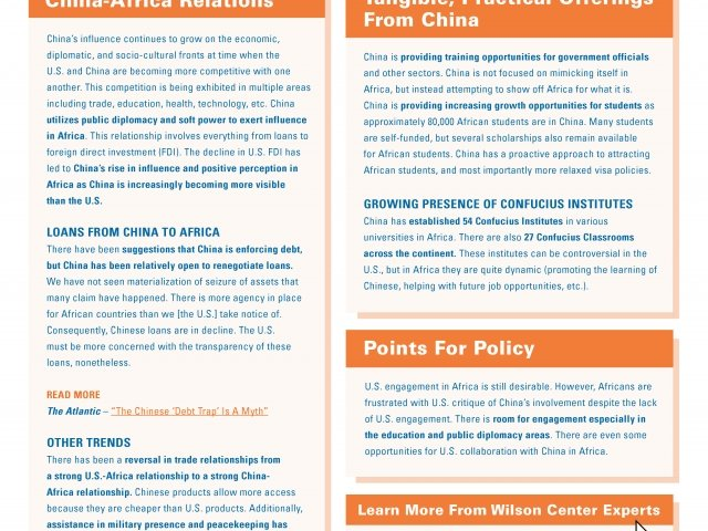 Wilson Memo: The Developing Relationship Between China & Africa