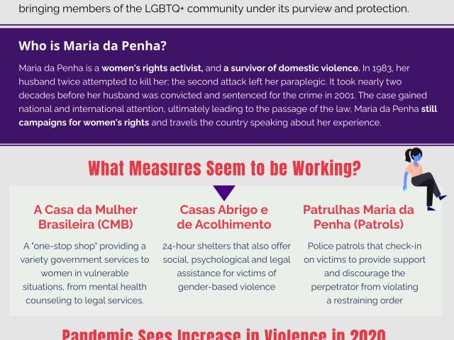 Maria da Penha Infographic