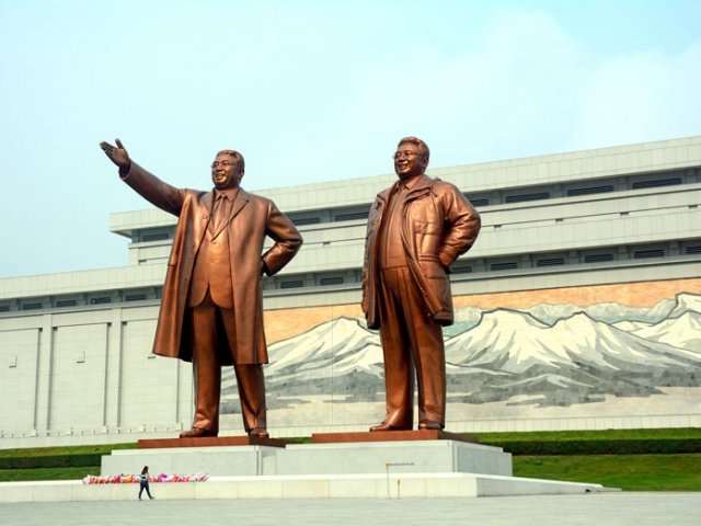 Statues of Kim family