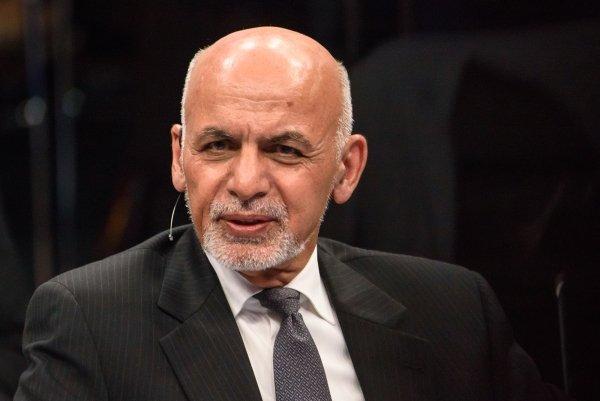 Afghan President Ashraf Ghani at a NATO Summit in 2018.