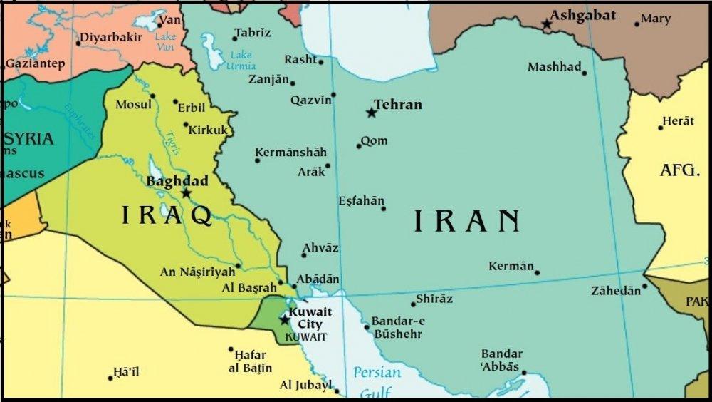 Iraq Iran map