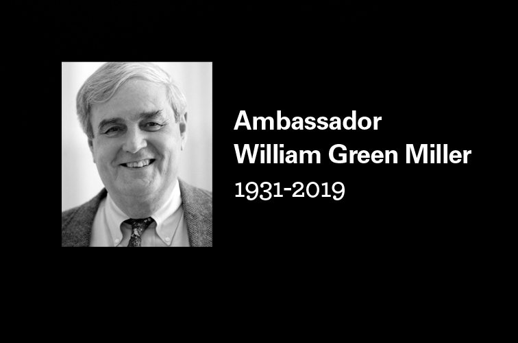 The Wilson Center Mourns the Passing of Ambassador William Green Miller