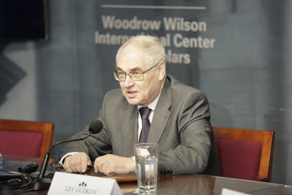 Photo of Lev Gudkov from a 2016 Wilson Center event
