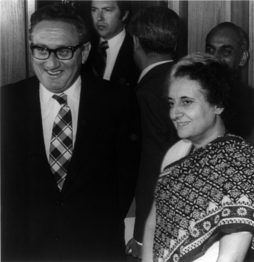 U.S. Secretary of State Henry Kissinger with Indian Prime Minister, October 1974. Source: Library of Congress cph.3b13867/Wikimedia Commons.