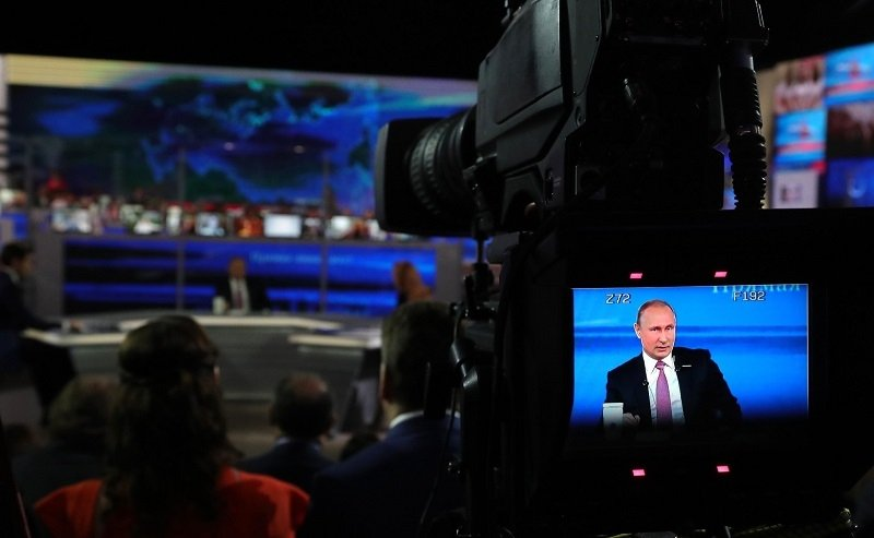 President Vladimir Putin speaking during the annual Direct Line in June 2017. Source: kremlin.ru
