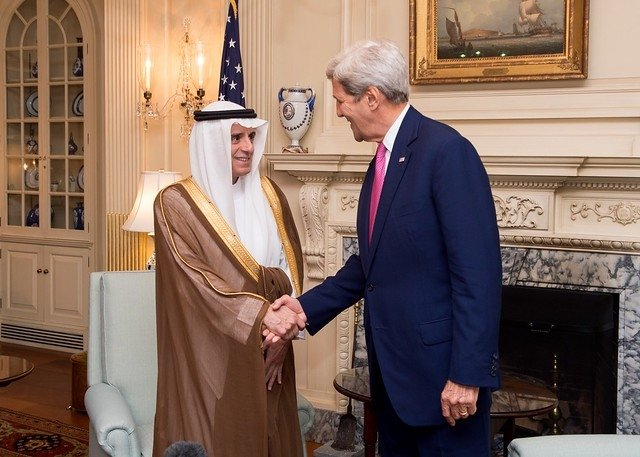Adel al Jubeir and John Kerry