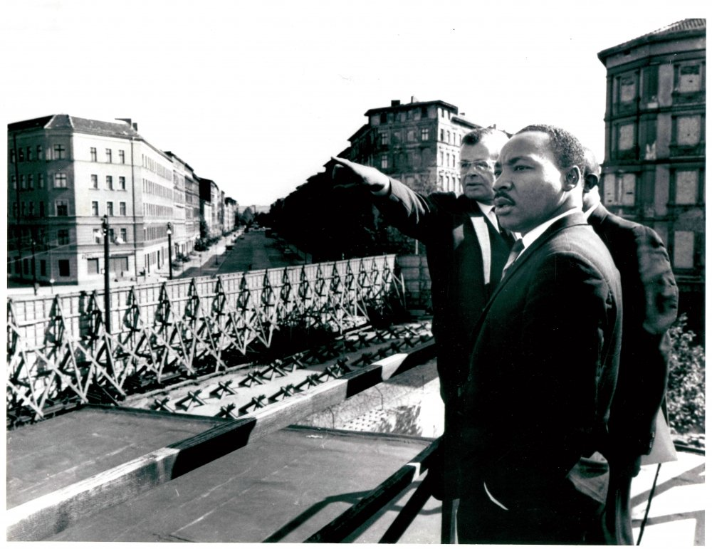Photograph of Dr. Martin Luther King in Berlin, Germany