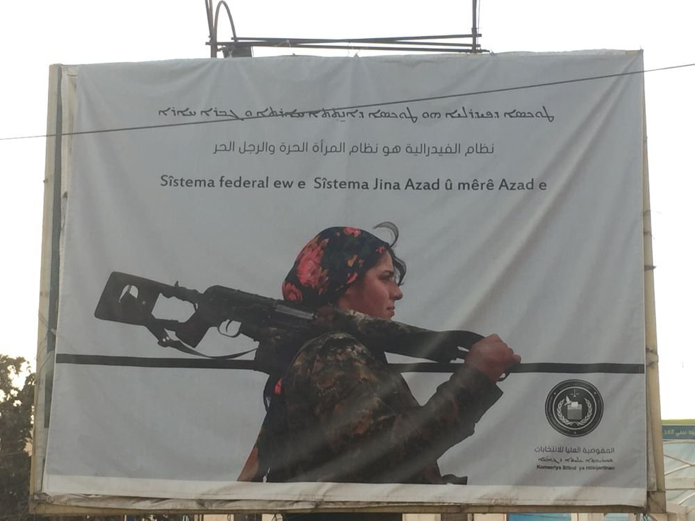 Poster found in North East Syria
