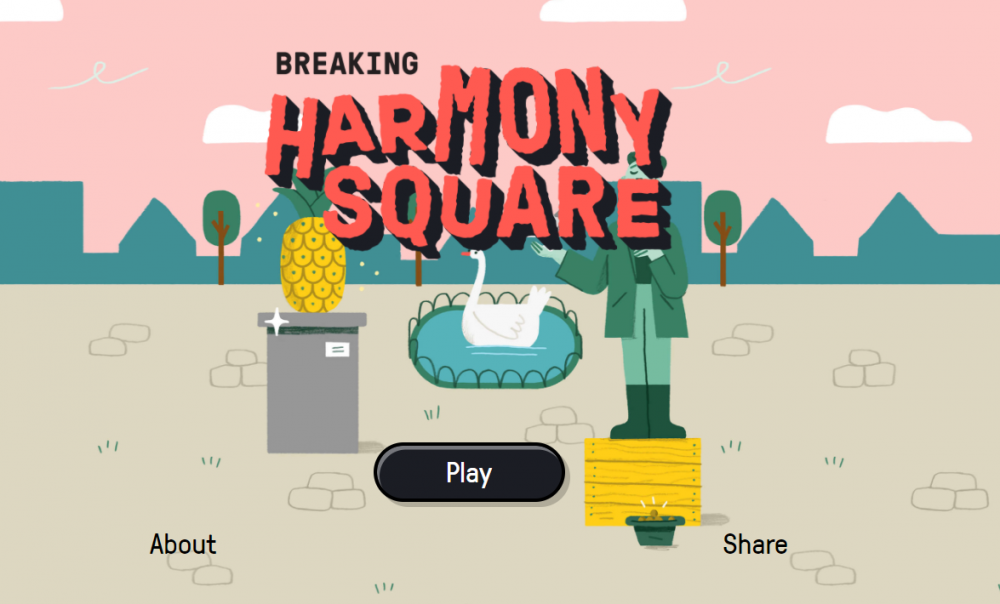 Screenshot of the game breaking harmony square