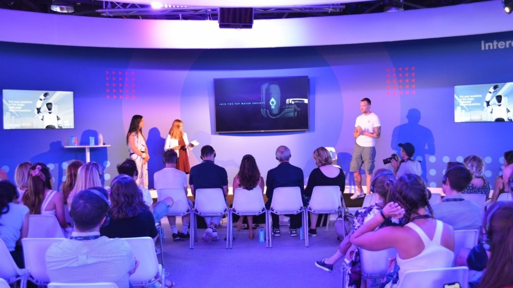 Teams present to judges at the Cannes Creative Festival.