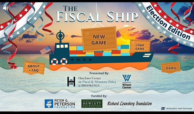 Screenshot of Fiscal Ship's election edition