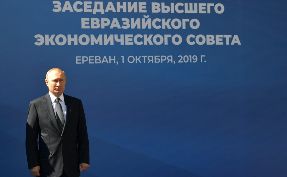 Vladimir Putin before the Supreme Eurasian Economic Council meeting in October 2019. Source: kremlin.ru