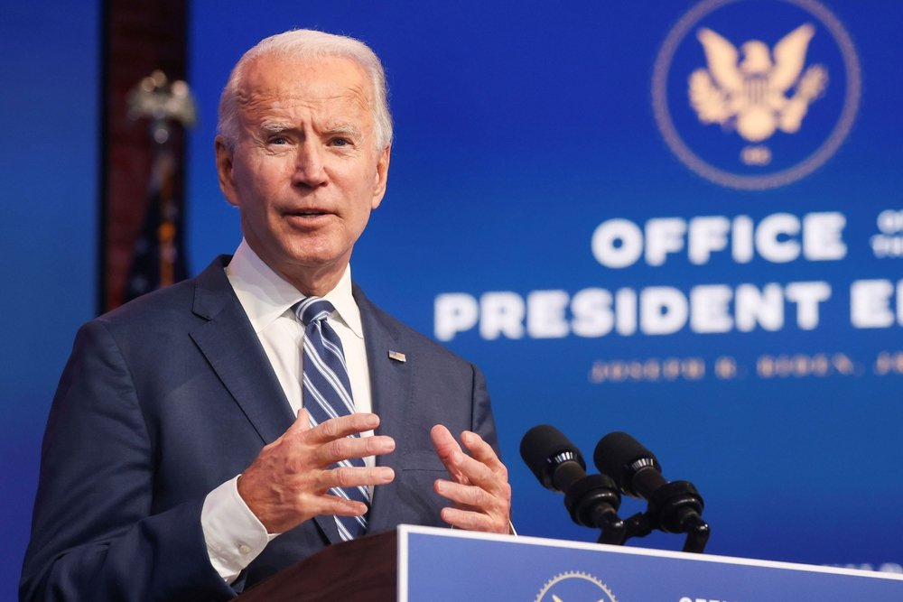 11/16/2020,USA:President-elect Joe Biden discusses defending the Affordable Care Act and his health care plans in an information convention,in Wilmington.