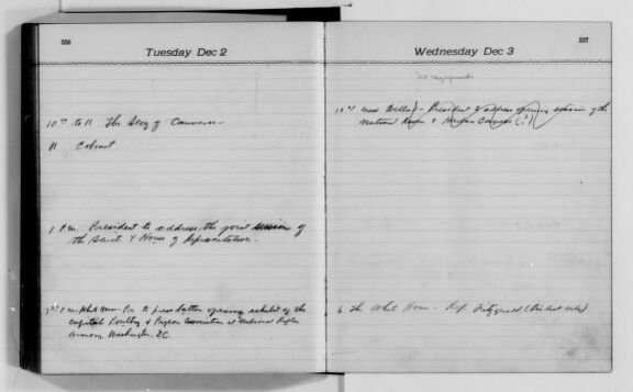 Woodrow Wilson Appointment Book