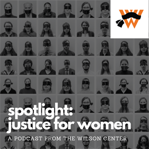 Spotlight: Justice for Women Podcast Logo