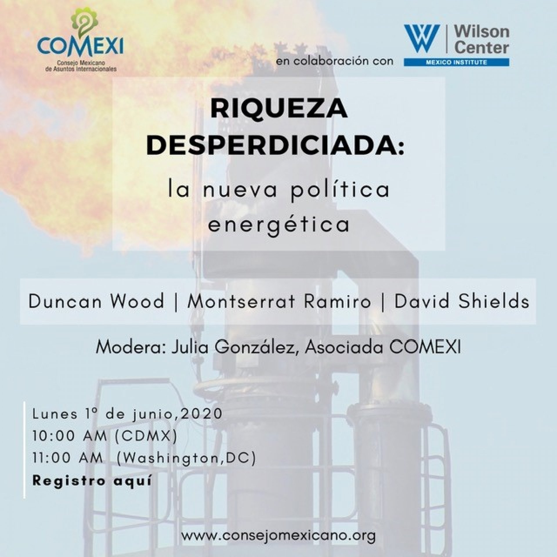 COMEXI Wilson Center event flyer