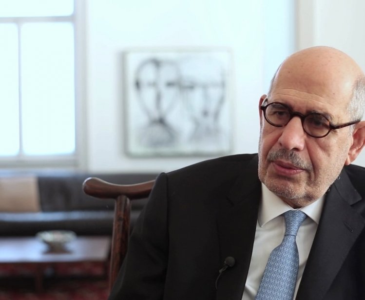 Still from interview with former IAEA Director Mohammed ElBaradei