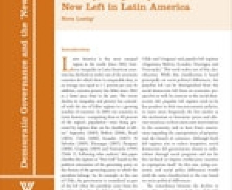 Poverty, Inequality and the New Left in Latin America