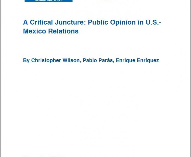 A Critical Juncture: Public Opinion in U.S.-Mexico Relations