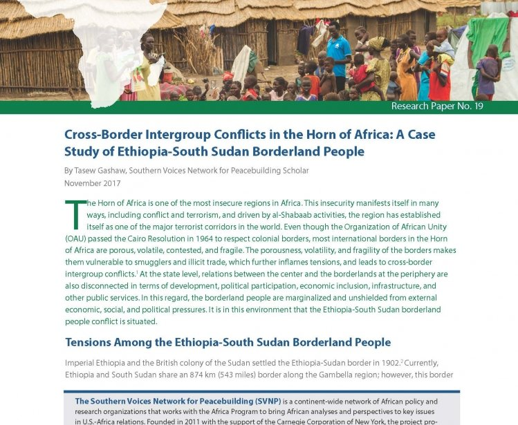Mitigating Cross-Border Intergroup Conflicts along the Ethiopia-South Sudan Border