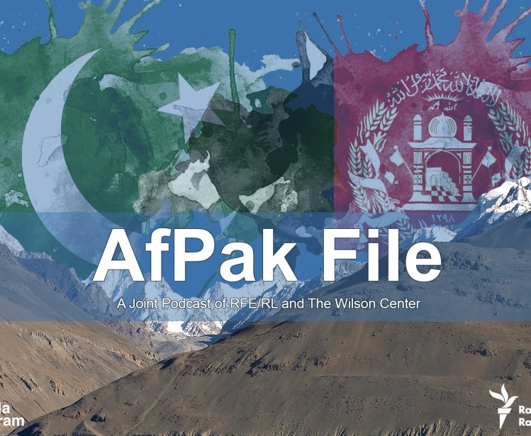An image of mountains with the flags of Pakistan and Afghanistan in the background.