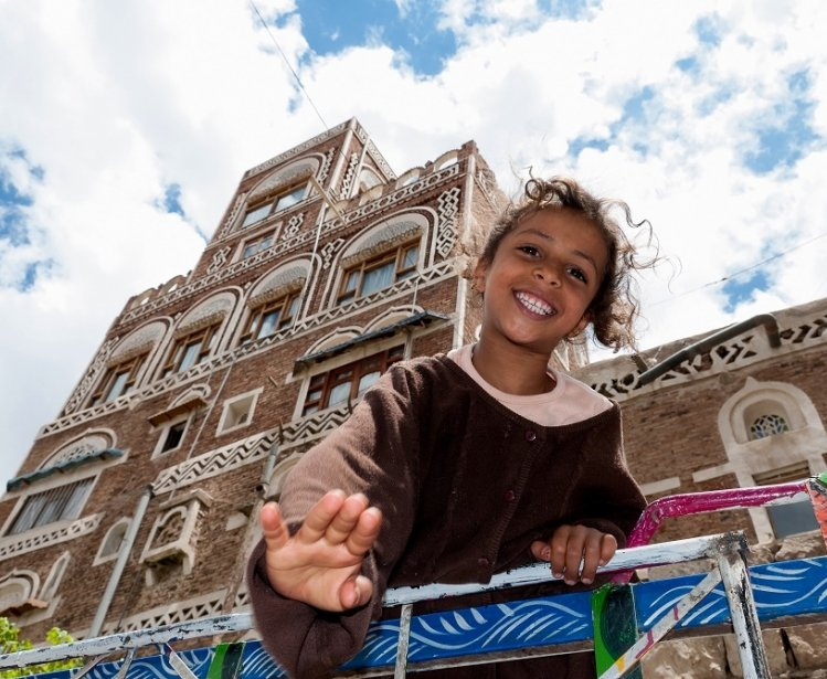 Girl in Sanaa, Yemen