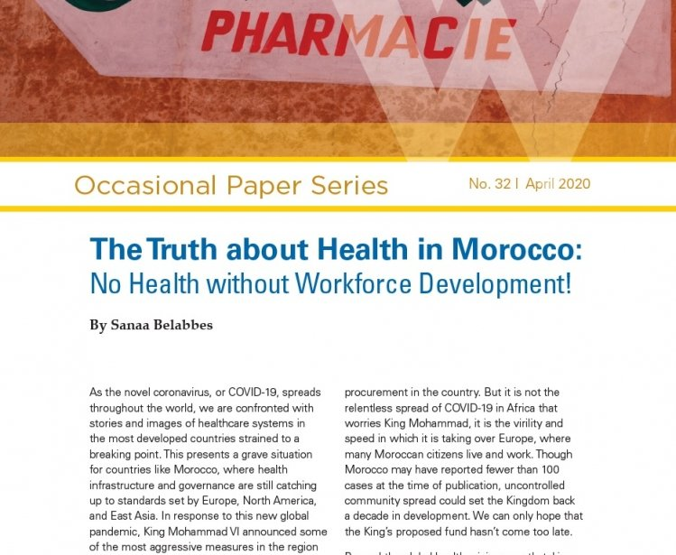 The Truth about Health in Morocco: No Health without Workforce Development!