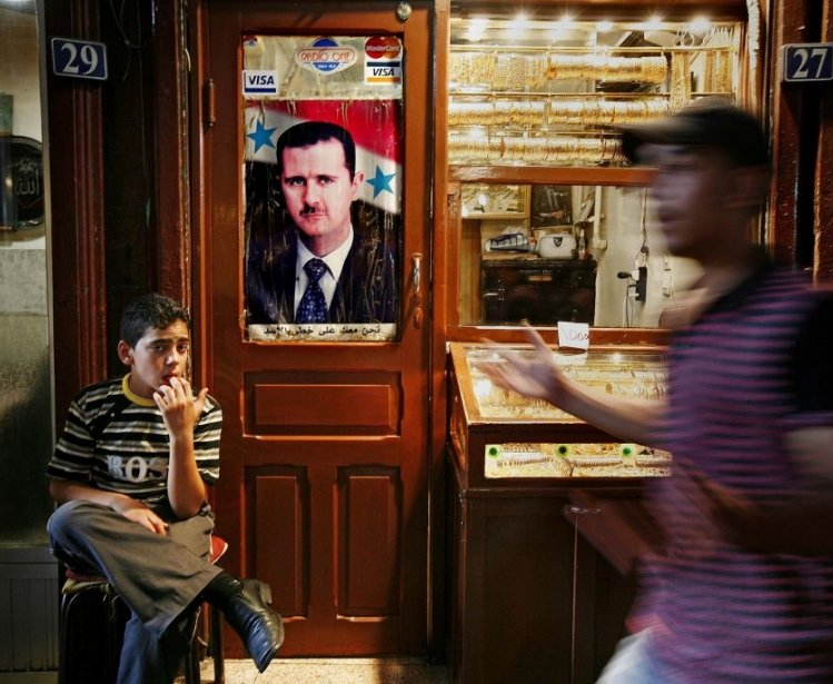 Portrait of al-Assad in Damascus, Syria