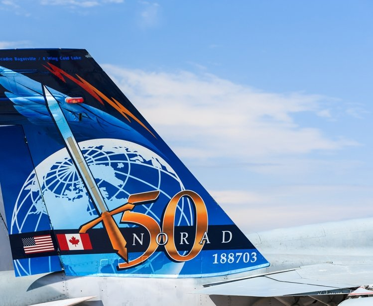 NORAD 50th Anniversary Tail Fin