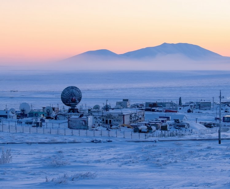 Arctic science research station picture