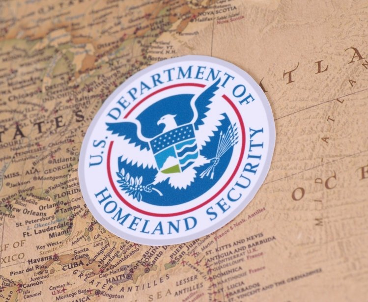 Homeland Security Logo with Map