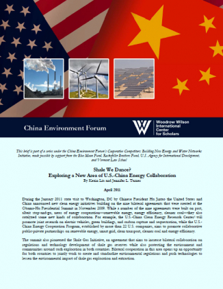 Shale We Dance? Exploring a New Area of U.S.-China Energy Collaboration