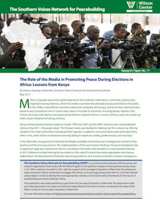 The Media and Election-Related Violence in Africa: Lessons from Kenya