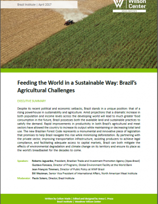 Event Summary: Feeding the World in a Sustainable Way: Brazil's Agricultural Challenges