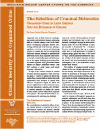 The Rebellion of Criminal Networks: Organized Crime in Latin America and the Dynamics of Change