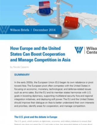 How Europe and the United States Can Boost Cooperation and Manage Competition in Asia